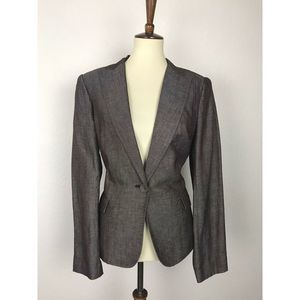 Calvin Klein Brown Linen Blend Jacket